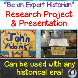 The notes, reports, and works cited pages of research lessons used to scare Jenifer. Then she  discovered how to make them engaging and history-based.